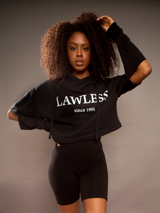 Lawless Cropped Cut-Out Hoodie